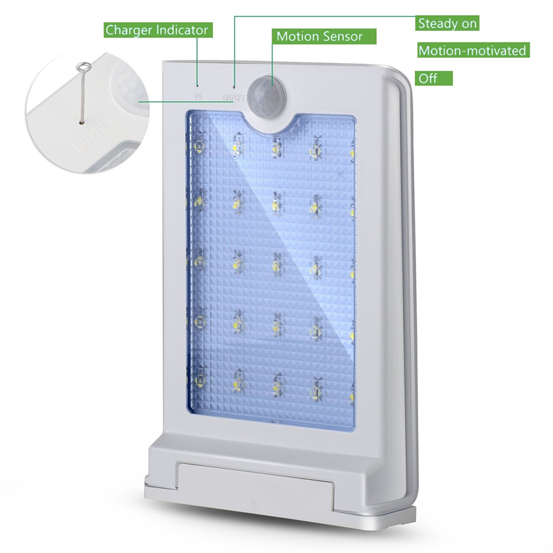 SI-SL025 solar wallmount sensor light