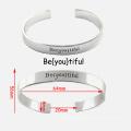 Bracelet en acier inoxydable personnalisé pour femmes