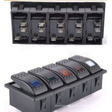 2-8way Marine 12V LED Interruptores basculantes para paneles de conmutación (MY)