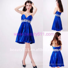 Astergarden реальные фото милая длиной до колен бисероплетение Sash атласная платье партии AS152