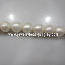 9mm white color round shape freshwater pearls for jewelry