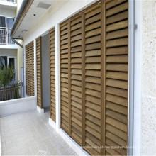 janela de madeira porta louvre plantação janela persianas