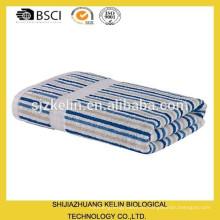 100 toallas de lujo de algodón a rayas