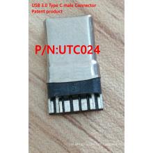 Connecteur mâle USB 3.0 Type C Produit breveté