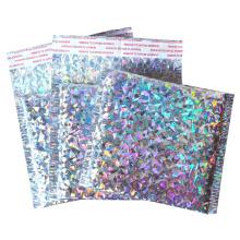 Holographic Purple Foil Metallic Bubble Mailes