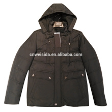 super warm 100% polyester padding jacket with hat mens jacket