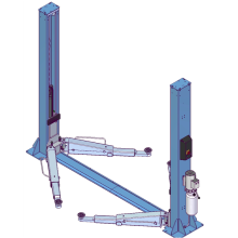Two Post Lift Floor Connection