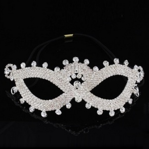Vintage Rhinestone Pageant Queen Mask