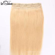 Clip humain vierge non traité dans les extensions de cheveux
