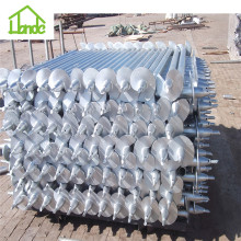Self drilling round galvanized ground screws anchor