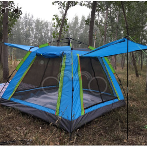 four door sinlgle layer camping tent for 5-7 person