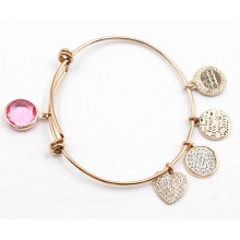 Hot venda pulseira de moda de aço inoxidável com encantos