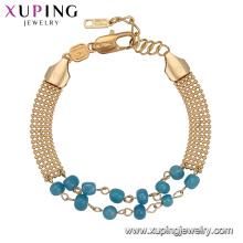 74021 Xuping trending banhado a ouro pulseira de contas