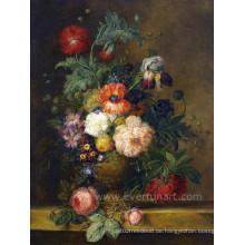 Heiße Verkaufs-handgemalte Blumen-Malerei