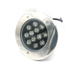 12W caliente blanco blanco fresco RGB color LED subterráneo luz / LED inground luz al aire libre