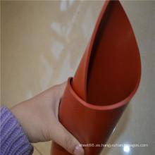 Hoja de goma de silicona de alta temperatura de color rojo