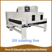 Machine de peinture en bois / Ligne de peinture UV pour feuille de MDF / Contreplaqué / Bois massif / Mélamine Bois Application de rouleau UV