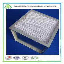 Venta caliente Galvanizado / marco de plástico V-bank filtro de aire (h12 / h13 filtro HEPA)