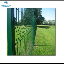 1.2m high V Mesh fencing PPC green