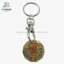 Выдвиженческий подарок цинковый сплав знак внимания монетки вагонетки keychain держателя с собачим крюком