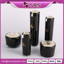 Black Cosmetic Snail Cone Forma Skincare 30ml 50ml 100ml Loção Garrafa E 15g 30g 50g Creme Frasco Garrafa Creme Cosmético E Frascos