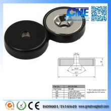 39lb Neodymium Rubber Coated Magnets