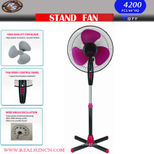 16inch Pedestal Fan with Cross Base Black Color