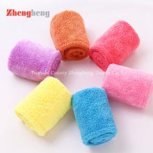 Velo coral que faz malha toalhas de Microfiber para a secagem do cabelo