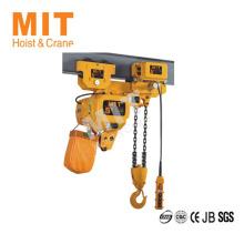 Conception spéciale pour l'utilisation de l'espace limite 5t à chaîne électrique à faible hauteur