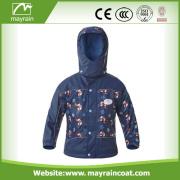 Full Print Thicken Warm PU Kinder Regenanzug