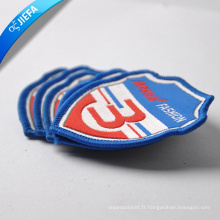 Patch tissé de logo de haute qualité de marque d'ornement / insigne