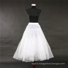 2017 горячая распродажа дешевые белый кринолин свадебные кружева юбка