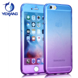 Yexiang Newest Front and Back 360 Degree Full TPU Clear Cover Case For iPhone 7