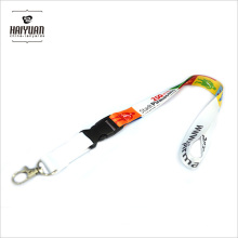 Poliéster Eco Friendly Custom Liso Impreso Lanyard
