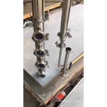 Destilliersäule mit kupfernen oder rostfreien Platten
