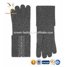 Женщины монгольского кашемира перчатки 100 кашемир перчатки
