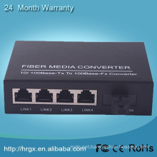 4 port fast electrical ethernet multimode optical fiber switch