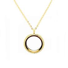 Frauen-weibliches Mode-22k dickes Golddünnes Seil kettet Medaillon-Halsketten an