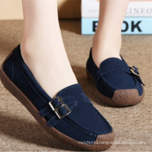 SE1902W  High quality genuine leather lady Casual Shoes