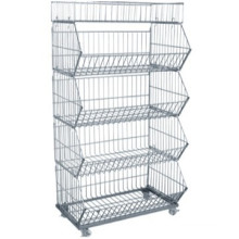 Wholesale best price light duty stackable metal container with high quality