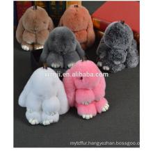bunny shape Rex Rabbit Fur Keychain