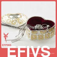 Venta al por mayor decorativa de la caja de joyería del espejo popular nuevo para los anillos