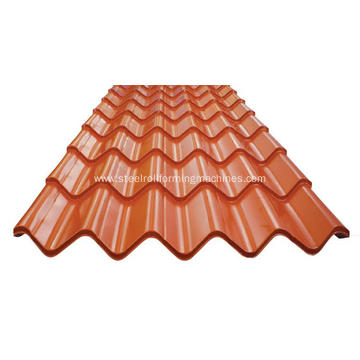 Glazed shed covering roofing sheets machine