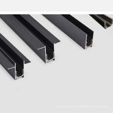 plafond en plâtre 20 wildth LED profil de piste magnétique