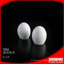 складе Китая поставляет шейкер соль перец дешевый фарфор белая посуда