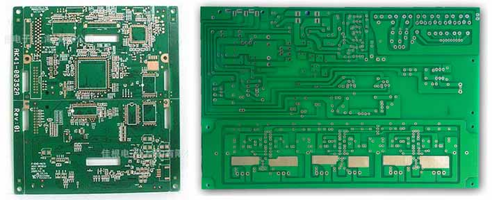 Green oil solder mask printed circuit board