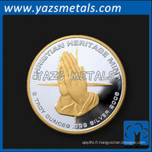 Monnaies doubles personnalisées, personnaliser une pièce militaire de haute qualité
