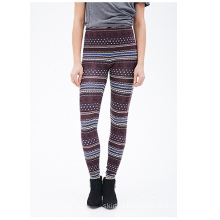 Fair Isle Leggings with Elasticized Waist