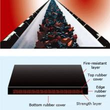 Le feu / fil d'acier ignifuge de métallurgie de charbon minent le convoyeur en caoutchouc