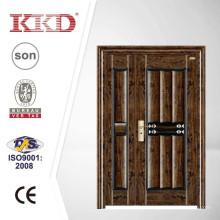 Dobrou a porta de segurança de ferro Exterior KKD-312B com pintura UV prova